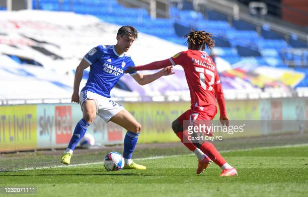 Tom Sang of Cardiff City FC during the Sky Bet Championship match between Cardiff City and Nottingham Forest at Cardiff City Stadium on April 2, 2021...