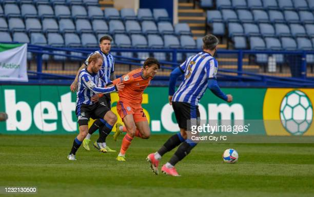 Tom Sang of Cardiff City FC during the Sky Bet Championship match between Sheffield Wednesday and Cardiff City at Hillsborough Stadium on April 5,...