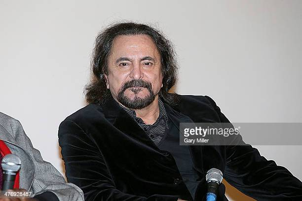 Tom Savini speaks after a screening of From Dusk Till Dawn at the Marchesa Theater on March 5 2014 in Austin Texas
