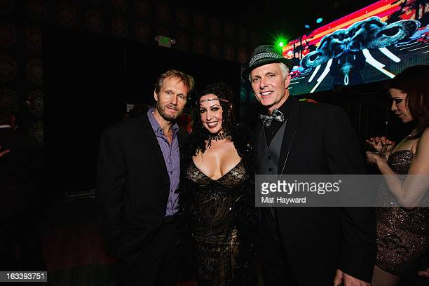 Tom Schanley, Melissa Hurley-Cassidy and Patrick Cassidy attend the Sodo Comes Alive Party at Aston Manor on March 8, 2013 in Seattle, Washington.