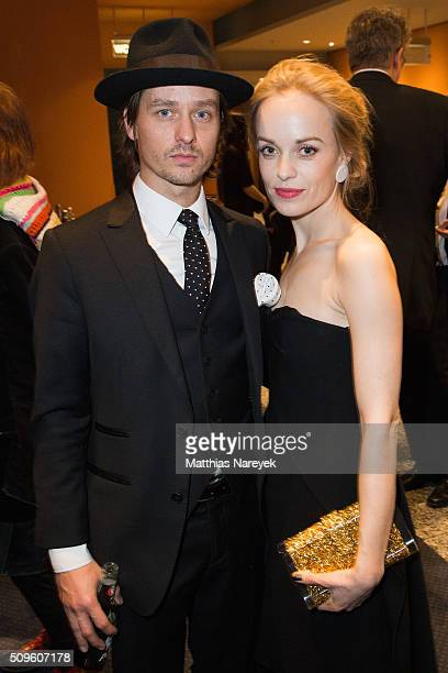 Tom Schilling and Frederike Kempter attend the opening party of the 66th Berlinale International Film Festival Berlin at Berlinale Palace on February...