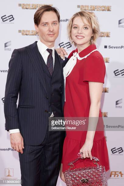 "Tom Schilling and Jella Haase attend the Family & Friends screening of ""Goldfische"" at UCI LUXE on March 18, 2019 in Berlin, Germany."