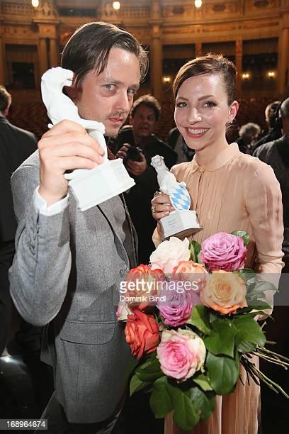Tom Schilling and Katharina Schuettler attend the 'Bayerischer Fernsehpreis 2013' Show at Prinzregententheater on May 17 2013 in Munich Germany