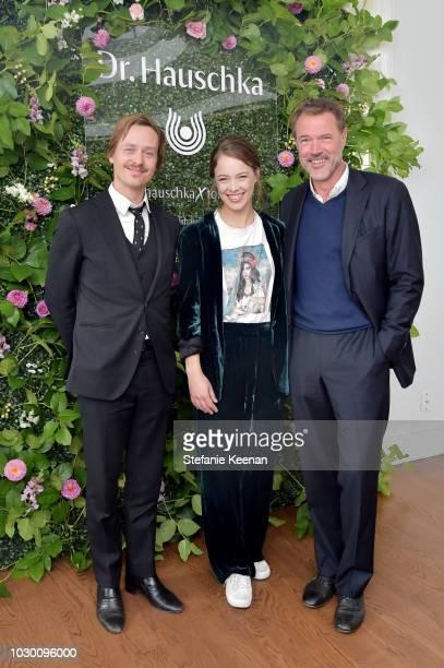 Tom Schilling Paula Beer and Sebastian Koch attend German Films X Dr Hauschka Reception at the 43rd Toronto International Film Festival on September...