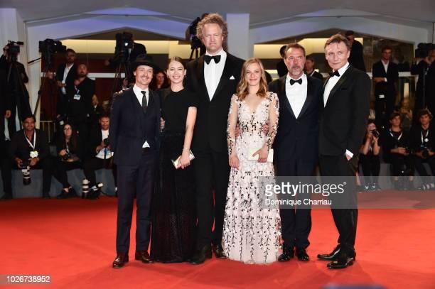 Tom Schilling, Paula Beer, Director Florian Henckel von Donnersmarck, Saskia Rosendahl, Sebastian Koch and Oliver Masucci walk the red carpet ahead...