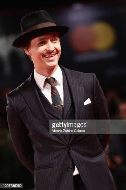 Tom Schilling walks the red carpet ahead of the 'Werk Ohne Autor ' screening during the 75th Venice Film Festival at Sala Grande on September 4 2018...