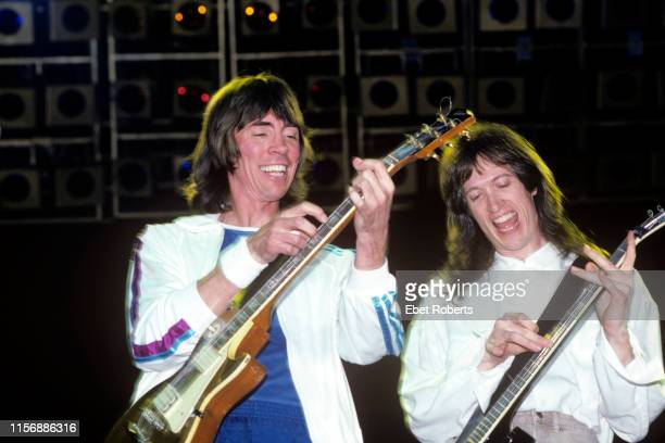 Tom Scholz and Gary Pihl performing with Boston at the Brendan Byrne Arena in East Rutherford New Jersey on July 3 1987