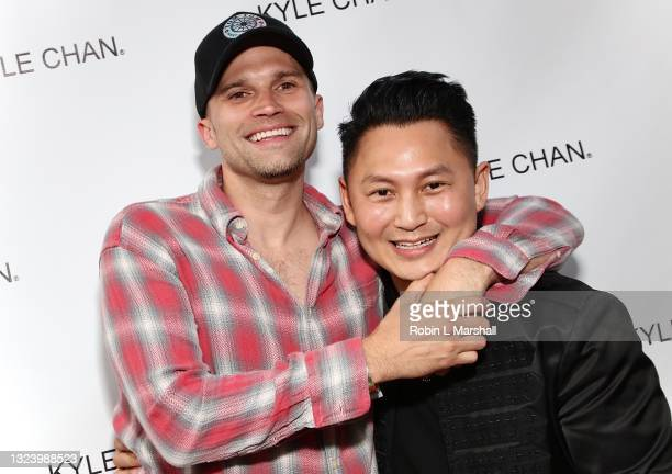 Tom Schwartz and Kyle Chan attend Kyle Chan's retail store opening at Kyle Chan Design on June 16, 2021 in Los Angeles, California.