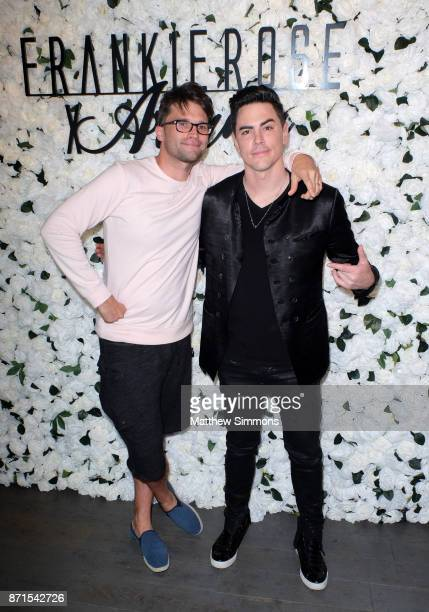Tom Schwartz and Tom Sandoval at Ariana Madix Frankie Rose Cosmetics holiday launch at COD Restaurant on November 7 2017 in Los Angeles California