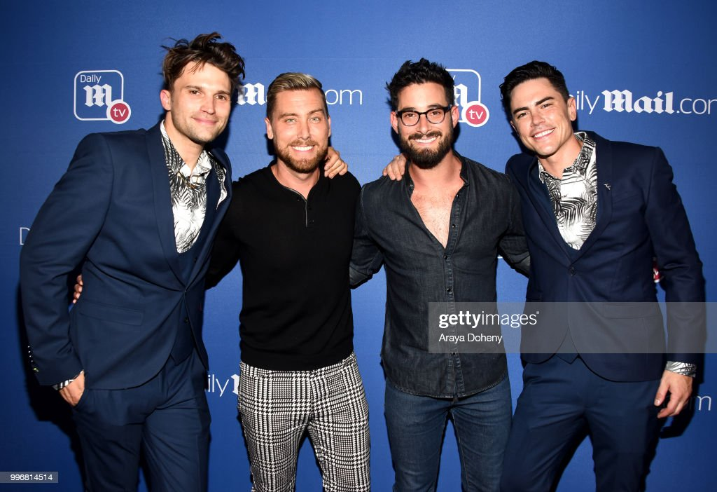 Tom Schwartz, Lance Bass, Michael Turchin and Tom Sandoval attend the DailyMail.com & DailyMailTV Summer Party at Tom Tom on July 11, 2018 in West Hollywood, California.