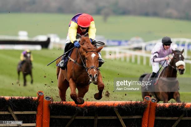 Tom Scudamore riding New Age Dawning clear the last to win The Faucets & Rada Are The Washroom Specialists Novices' Hurdle at Chepstow Racecourse on...
