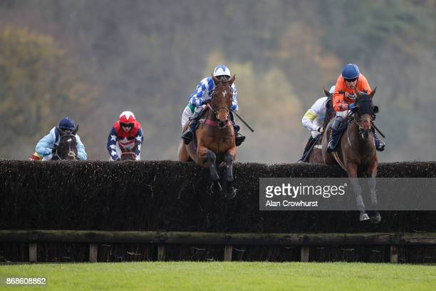Tom Scudamore riding Saint John Henry on their way to winning The dentfineartcom And Ascendance fashion Steeple Chase at Chepstow racecourse on...