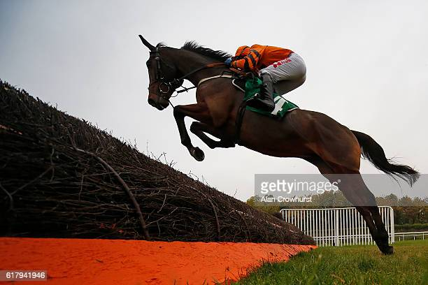 Tom Scudamore riding Thistlecrack on their way to winning The Aspen Waite Complete Business Growth Service Novices' Steeple Chase at Chepstow...