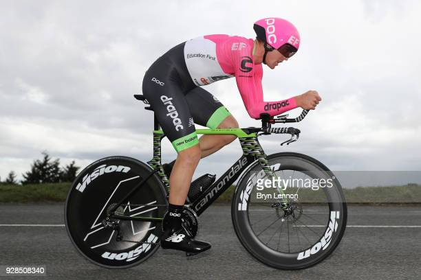 Tom Scully of New Zealand and EF Education FirstDrapac p/b Cannondale during the 76th Paris Nice 2018 / Stage 4 an Individual Time Trial of 184km...