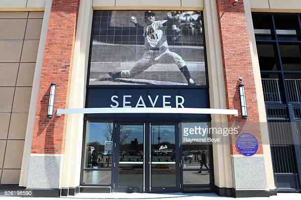 Tom Seaver entrance at Citi Field home of the New York Mets baseball team in Flushing New York on April 16 2016