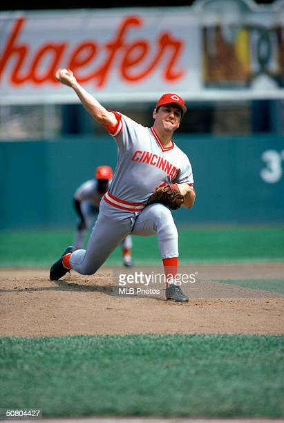 Tom Seaver of the Cincinnati Reds pitches during a 1978 season game.