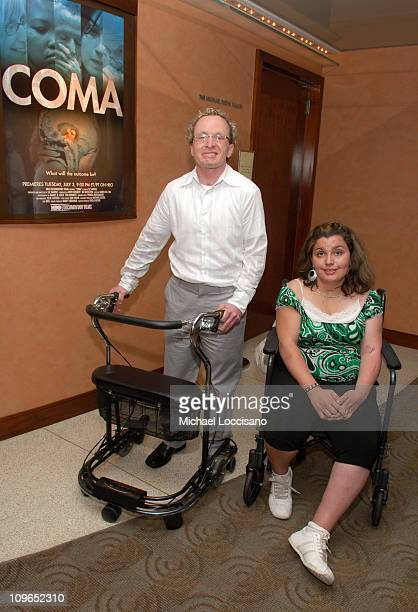 Tom Segars and Roxy Guzman during Coma New York City Premiere and Screening Presented by HBO Documentary Films at HBO Theater in New York City New...
