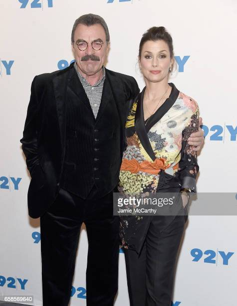 Tom Selleck and Bridget Moynahan attend the Blue Bloods 150th Episode Celebration at 92nd Street Y on March 27 2017 in New York City