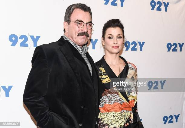 Tom Selleck and Bridget Moynahan attend the Blue Bloods 150th episode celebration at 92Y on March 27 2017 in New York City