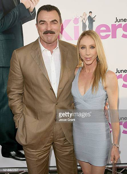 """Tom Selleck and Jillie Mack arrive at the """"Killers"""" Los Angeles Premiere held at ArcLight Cinemas Cinerama Dome on June 1, 2010 in Hollywood,..."""