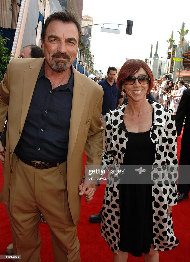 Tom Selleck and Jillie Mack during 'Meet The Robinsons' Los Angeles Premiere - Red Carpet at El Capitan Theatre in Hollywood, California, United States.