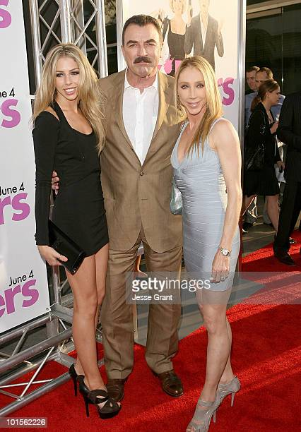 Tom Selleck and wife Jillie Mack arrive at the Killers Los Angeles Premiere held at ArcLight Cinemas Cinerama Dome on June 1 2010 in Hollywood...