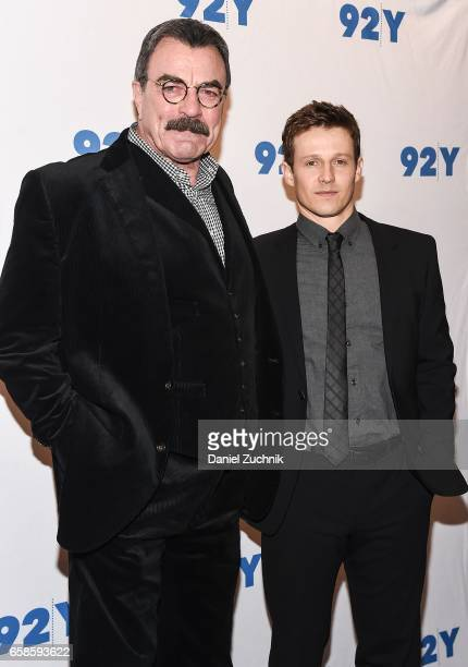 Tom Selleck and Will Estes attend the Blue Bloods 150th episode celebration at 92Y on March 27 2017 in New York City