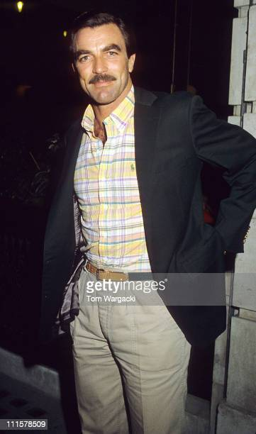 Tom Selleck at Langan's Brasserie during Tom Selleck at Langan's Restaurant July 25th 1983 in London Great Britain