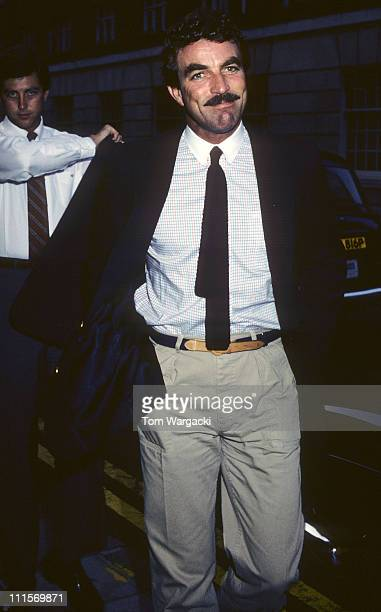 Tom Selleck at Langan's Brasserie during Tom Selleck at Langan's Brasserie June 4th 1983 in London Great Britain