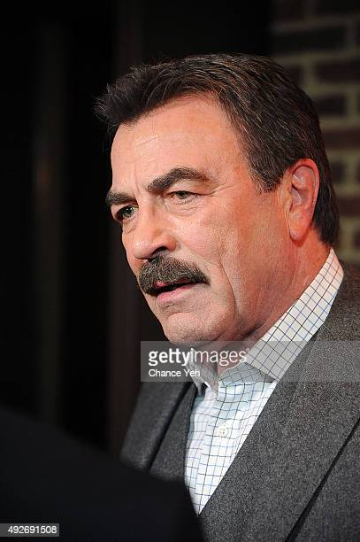 """Tom Selleck attends """"Jesse Stone: Lost In Paradise"""" New York premiere at Roxy Hotel on October 14, 2015 in New York City."""