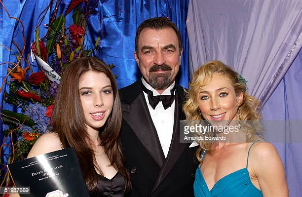Tom Selleck daugher Hannah and wife Jillie Mack are seen at the Distinctive Assets Gift Lounge during the Peoples Choice Awards at the Pasadena Civic...