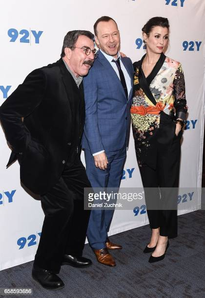 Tom Selleck Donnie Wahlberg and Bridget Moynahan attend the Blue Bloods 150th episode celebration at 92Y on March 27 2017 in New York City