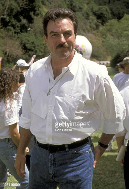 Tom Selleck during 9th Annual A Time For Heroes Elizabeth Glaser Pediatric AIDS Foundation Benefit at Home Of Ken Roberts in Brentwood California...