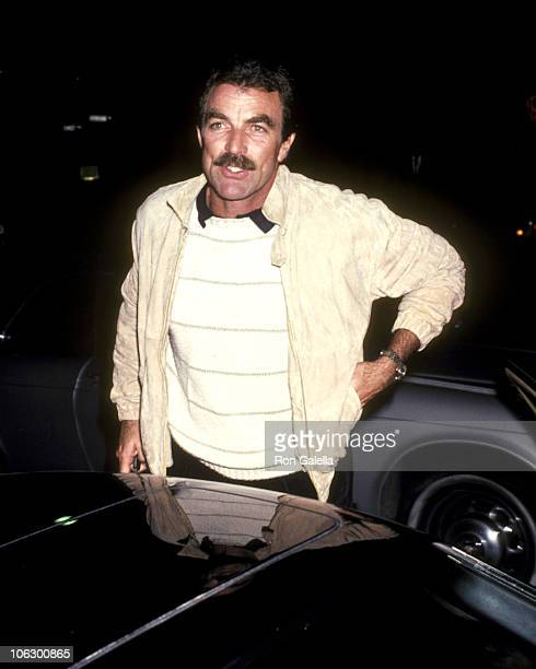 Tom Selleck during Larry Manetti and Tom Selleck at Nicky Blair's at Nicky Blair's in Hollywood California United States