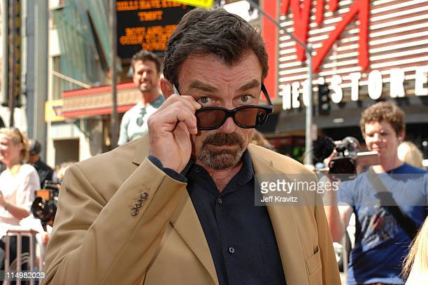 Tom Selleck during Meet The Robinsons Los Angeles Premiere Red Carpet at El Capitan Theatre in Hollywood California United States