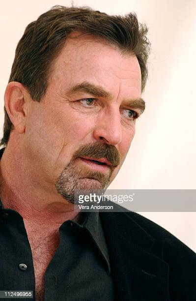 Tom Selleck during Stone Cold Press Conference with Tom Selleck at Four Seasons Hotel in Beverly Hills California United States