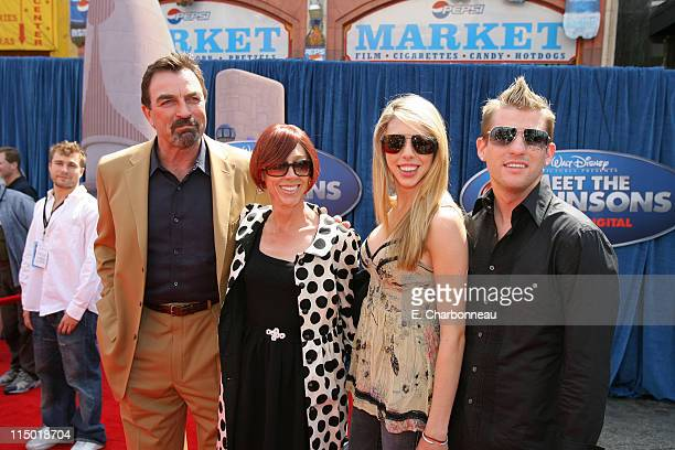 Tom Selleck Jillie Mack Hannah Selleck and guest