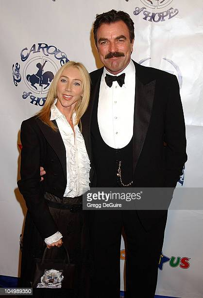 Tom Selleck wife during The 15th Carousel Of Hope Ball Arrivals at Beverly Hilton Hotel in Beverly Hills California United States