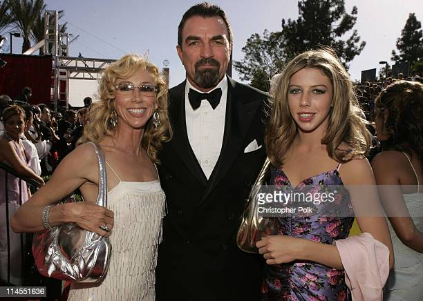 Tom Selleck with wife Jillie and daughter Hannah during The 56th Annual Primetime Emmy Awards Arrivals at The Shrine Auditorium in Los Angeles...