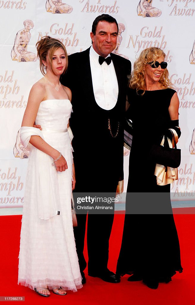 Tom Selleck with wife Jillie Mack and daughter during 44th Monte Carlo Television Festival - Closing Ceremony - Arrivals at Grimaldi Forum in Monte Carlo, Monaco.