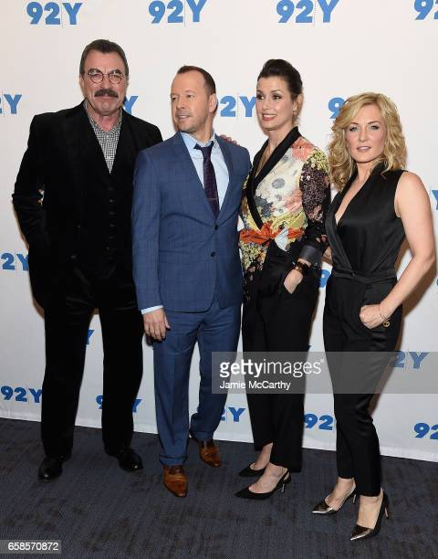 Tom SelleckDonnie WahlbergBridget Moynahan and Amy Carlson attend the Blue Bloods 150th Episode Celebration at 92nd Street Y on March 27 2017 in New...