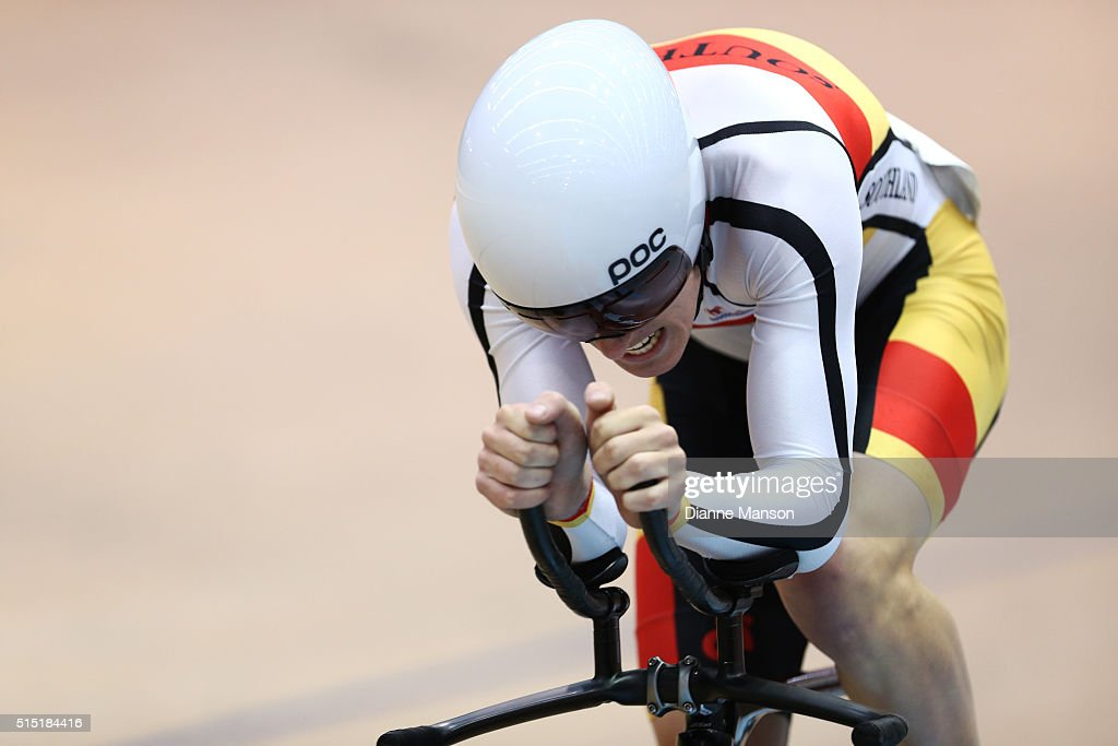 Tom Sexton of Southland competes in the Junior U19 Men Omnium 500m Time Trial during the New Zealand Age Group Track National Championships on March 13, 2016 in Invercargill, New Zealand.