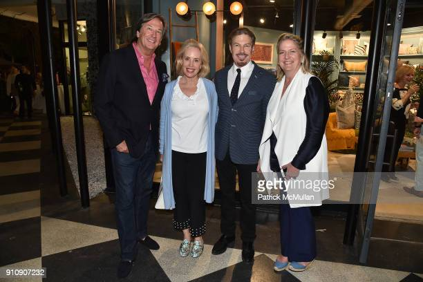 Tom Shaffer Amy Hoadley Michel Witmer and Felicia Taylor attend QUEST Magazine celebrates the Palm Beach issue with a Taste of The Royal at the The...