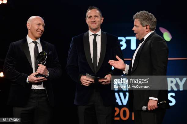 Tom Shanklin and Will Greenwood talk with Mark DurdenSmith as they present the Entertainment Experience of the Year award in association with Active...