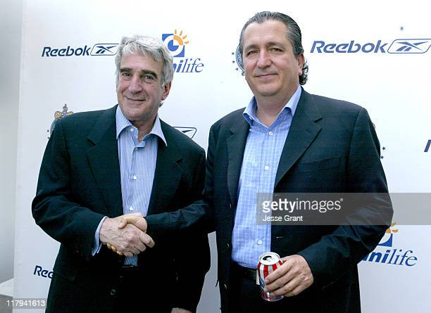 Tom Shine senior vice president of Reebok Global Sports Marketing and Jorge Vergara owner of Sports Club Guadalajara