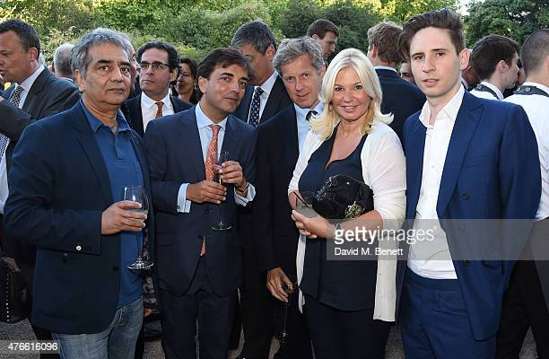 Tom Singh James Henderson Stephen Shaffer Janie Shaffer and Dominic McVey attend the Bell Pottinger Summer Party at Lancaster House on June 10 2015...
