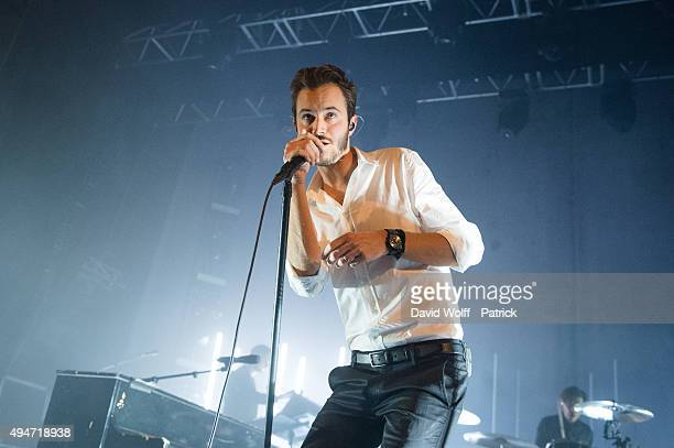 Tom Smith from Editors performs at Le Trianon on October 28 2015 in Paris France