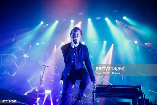 Tom Smith from Editors performs at L'Olympia on March 23 2018 in Paris France