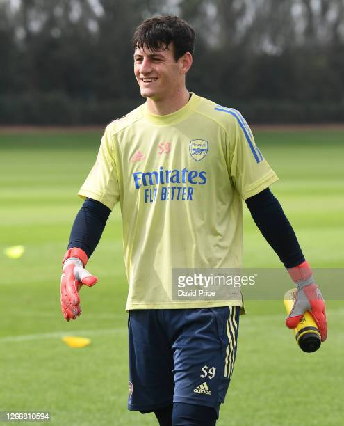 Tom Smith of Arsenal during the Arsenal U23 training session at London Colney on August 17, 2020 in St Albans, England.