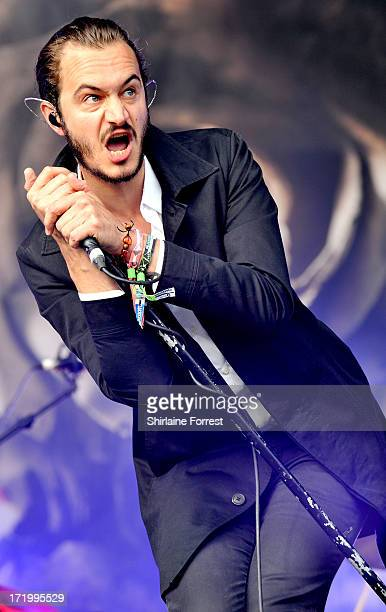 Tom Smith of Editors performs at day 4 of the 2013 Glastonbury Festival at Worthy Farm on June 30 2013 in Glastonbury England